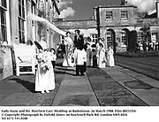 Lady Anne and Mr. Matthew Carr. Wedding at Badminton. 26 March 1988. Film 88231f24<br />