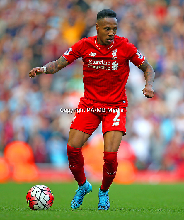 Liverpool's Nathaniel Clyne during the Barclays Premier League match at Anfield, Liverpool.