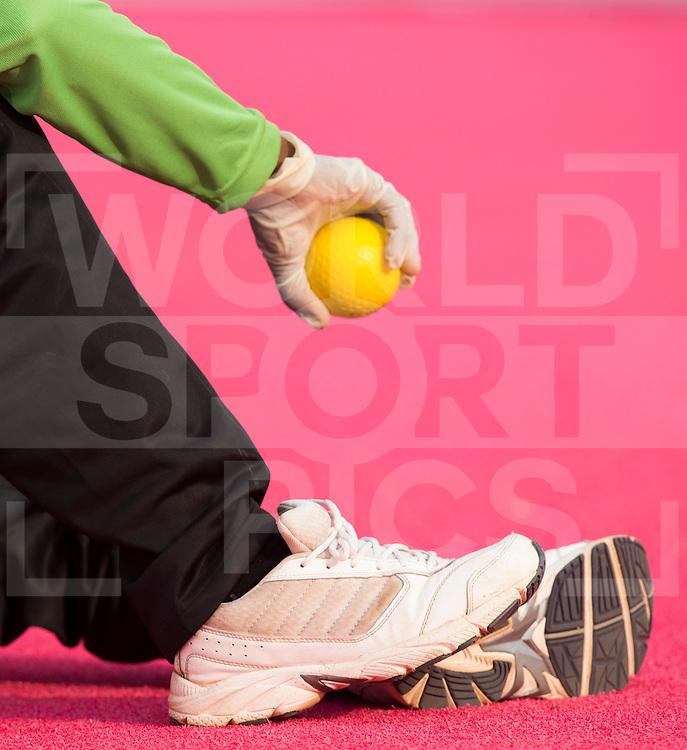 BHUBANESWAR  (INDIA)  - A ballboy . Champions Trophy Hockey men. Day 1. Belgium vs Pakistan. PHOTO  KOEN SUYK