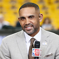 OAKLAND, CA - JUN 3: Grant Hill is seen prior to Game Two of the 2018 NBA Finals won 122-103 by the Golden State Warriors over the Cleveland Cavaliers at the Oracle Arena on June 3, 2018 in Oakland, California. NOTE TO USER: User expressly acknowledges and agrees that, by downloading and or using this photograph, User is consenting to the terms and conditions of the Getty Images License Agreement. Mandatory Copyright Notice: Copyright 2018 NBAE (Photo by Chris Elise/NBAE via Getty Images)