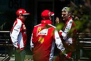 April 10-12, 2015: Chinese Grand Prix - Sebastian Vettel (GER), Ferrari, Maurizio Arrivabene, team principal of Scuderia Ferrari, Kimi Raikkonen (FIN), Ferrari