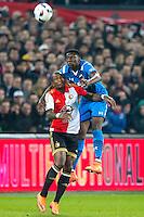ROTTERDAM - 03-03-2016, Feyenoord - AZ, stadion de Kuip, 3-1, Feyenoord speler Terence Kongolo, AZ speler Derrick Luckassen