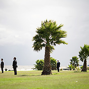 US Secret Service agents stand post as President George W. Bush and First Lady Laura Bush depart for Anchorena Park, Saturday, March 10, 2007, in Montevideo, Uruguay.<br /> <br /> Photo by Khue Bui