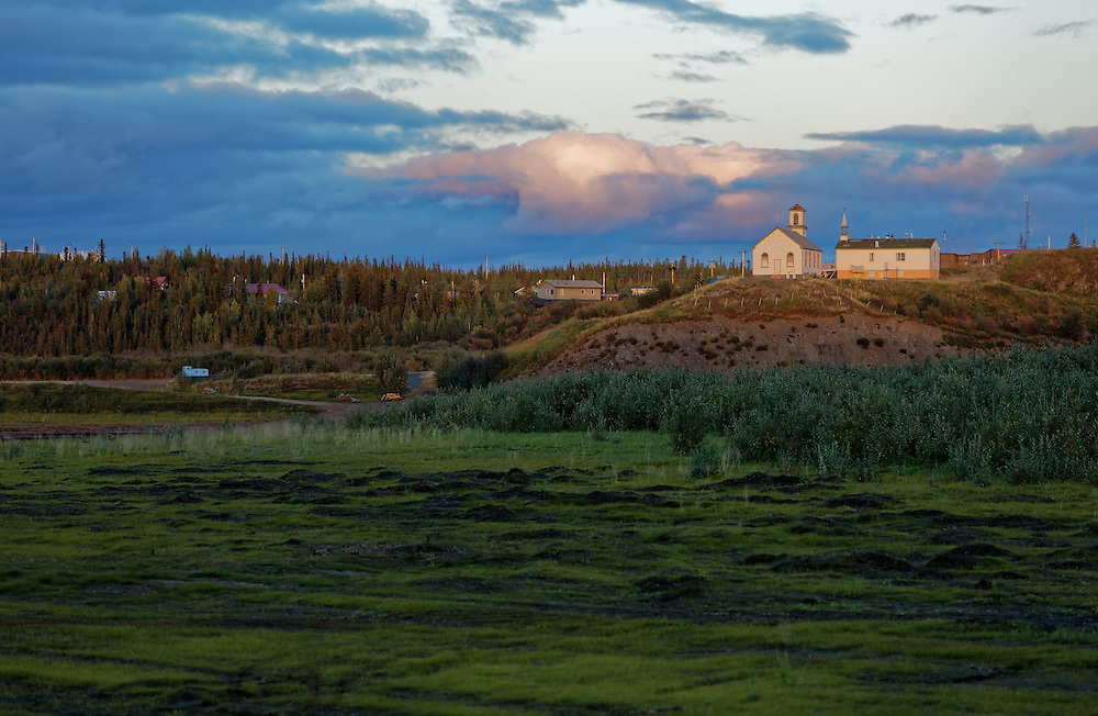 The community of Tsiigehtchic, NWT is located at the confluence of the Arctic Red and the MacKenzie rivers. It was first established as a permanent settlement for the Oblate Father Catholic Mission in 1868.