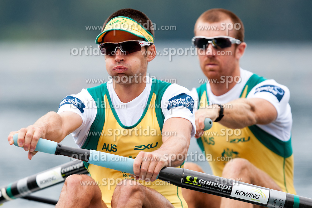 Thomas  Gibson (bow) and Blair Tunevitsch of Australia during Men's Lightweight Pair at Rowing World Championships Bled 2011 on August 28, 2011, in Bled, Slovenia. (Photo by Matic Klansek Velej / Sportida)