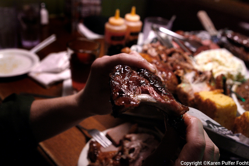 Southern Barbecue. Ribs, Beans, Slaw, sandwichMemphis, BBQ Company.