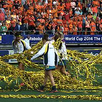 DEN HAAG - Rabobank Hockey World Cup<br /> 38 Final: Netherlands - Australia<br /> Netherlands world champion.<br /> Foto: Hockeyroos having fun.<br /> COPYRIGHT FRANK UIJLENBROEK FFU PRESS AGENCY