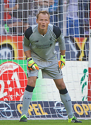 MAINZ, GERMANY - Sunday, August 7, 2016: Liverpool's goalkeeper Alex Manninger in action against FSV Mainz 05 during a pre-season friendly match at the Opel Arena. (Pic by David Rawcliffe/Propaganda)