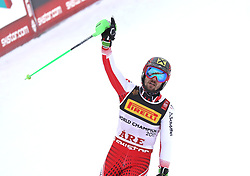 17.02.2019, Aare, SWE, FIS Weltmeisterschaften Ski Alpin, Slalom, Herren, 2. Lauf, im Bild Goldmedaillengewinner und Slalom Weltmeister Marcel Hirscher (AUT) // gold medalist and world champion Marcel Hirscher of Austria reacts after his 2nd run of men's Slalom of FIS Ski World Championships 2019. Aare, Sweden on 2019/02/17. EXPA Pictures © 2019, PhotoCredit: EXPA/ SM<br /> <br /> *****ATTENTION - OUT of GER*****