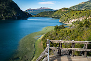 Lago Verde, Los Alerces National Park (honored on UNESCO's World Heritage List), in Chubut Province, Patagonian region, Argentina, South America. (Spanish: Parque Nacional Los Alerces)