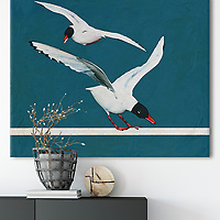 Interior example with Seagulls