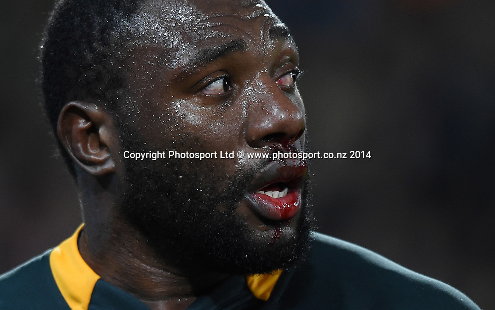 South African prop Tendai Mtawarira ( The Beast ) New Zealand All Blacks versus South Africa Springboks. The Rugby Championship. Rugby Union Test Match. Wellington. New Zealand. Saturday 13 September 2014. Photo: Andrew Cornaga/www.Photosport.co.nz