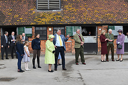 March 28, 2019 - Somerset, Somerset, United Kingdom - HM The Queen visits Somerset. The Queen Elizabeth II visit's Manor Farm Stables, meeting trainers and staff, view the horses on parade and hear from The University of Bath about research projects on equestrian sport spinal injuries and racehorse welfare. (Credit Image: © Andrew Parsons/i-Images via ZUMA Press)
