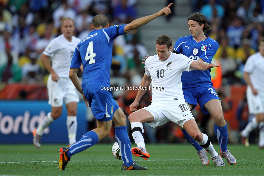 during the the FIFA World Cup 2010 match between New Zealand and Italy at The Mbombela Stadium in Nelspruit, South Africa on the 20th June 2010<br /> <br /> <br /> Photo by Ron Gaunt/Sportzpics/PHOTOSPORT