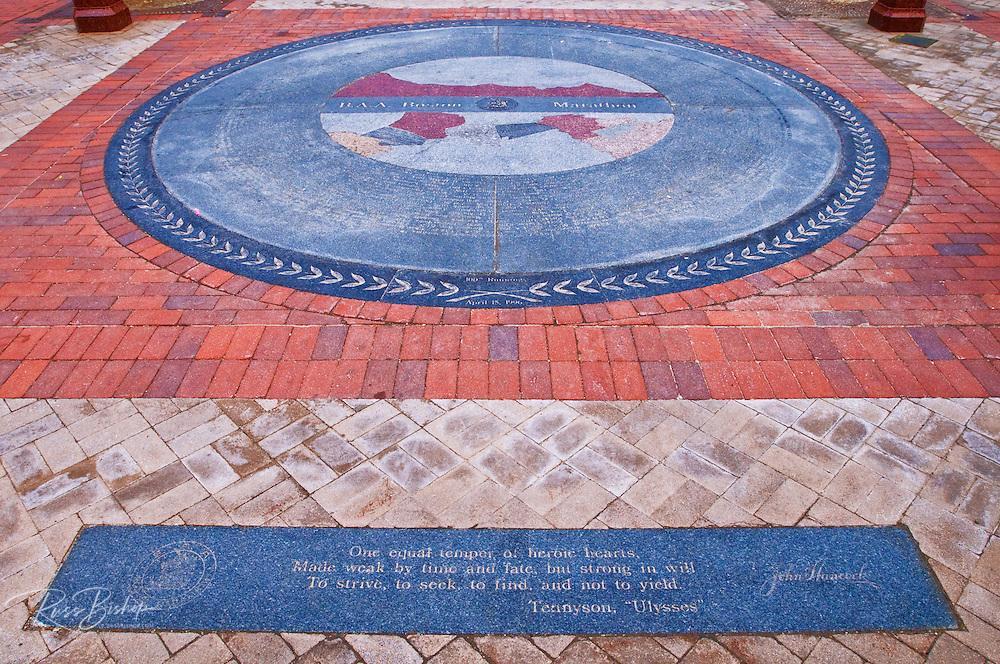 Boston Marathon monument in Copley Square, Boston, Massachusetts