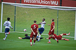 KIRKBY, ENGLAND - Saturday, August 10, 2019: Tottenham Hotspur's Shilow Tracey scores the fourth goal during the Under-23 FA Premier League 2 Division 1 match between Liverpool FC and Tottenham Hotspur FC at the Academy. (Pic by David Rawcliffe/Propaganda)