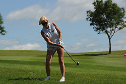 © Licensed to London News Pictures. 01/07/2017. London, UK, Actress and television personality Denise Van Outen during The 2017 Celebrity Cup golf tournament at the Celtic Manor Resort, Newport, South Wales. Photo credit: Jeff Thomas/LNP