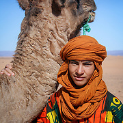 Camel and local boy, Tagounite, Morocco (November 2006)