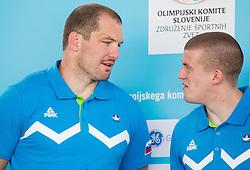 Matjaz Ceraj and Ivan Trajkovic during presentation of Slovenian Team for Baku 2015 European Games,  on June 4, 2015 in Koper, Slovenia. Photo by Vid Ponikvar / Sportida