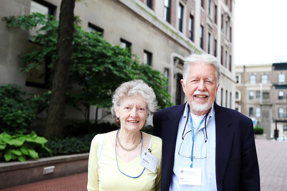 "Edward Villanueva '56, B'60.Brother: Robert Villanueva '49.Wife: Marilyn..""Stay focused. It's nice to have fun, but you have to know what you want to do. It's good to have purpose.""..""Don't go nuts because you're in the middle of NYC and you have freedoms that you didn't know were possible."""