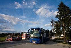 Bus of NK Dinamo at Rogla tourist resort after 2nd stage of Tour de Slovenie 2009 from Kamnik to Ljubljana, 146 km, on June 19 2009, Rogla, Slovenia. (Photo by Vid Ponikvar / Sportida)