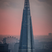 Renzo Piano The Shard , in a snow storm , London