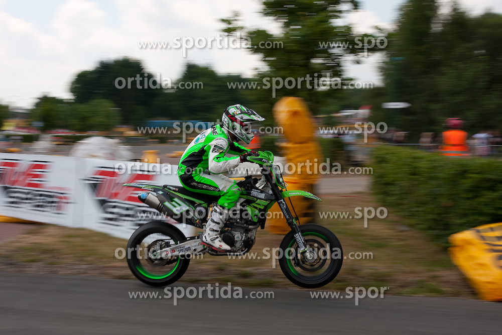 11.07.2010, Wendelinuspark, Sankt Wendel, GER, Supermoto WM, Race 2, im Bild von links Gerad Delepine (BEL), EXPA Pictures © 2010, PhotoCredit: EXPA/ A. Neis / SPORTIDA PHOTO AGENCY