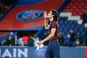 Edinson Roberto Paulo Cavani Gomez (psg) (El Matador) (El Botija) (Florestan) scored the second goal of the game, he thank the god celebration during the French Championship Ligue 1 football match between Paris Saint-Germain and ESTAC Troyes on November 29, 2017 at Parc des Princes stadium in Paris, France - Photo Stephane Allaman / ProSportsImages / DPPI