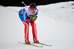 PONOMAREV Oleg Guide:  ROMANOV Andrei, RUS at the 2014 IPC Nordic Skiing World Cup Finals - Long Distance