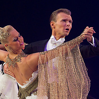 23 January 2010: Vadim Garbuzov and Kathrin Menzinger perform during the Masters Bercy Latin and Ballroom (standard) Dancesport Championship 2010, at Palais Omnisports Paris Bercy, in Paris, France. .