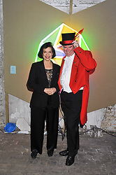 BIANCA JAGGER and MARK STEPHENS at the Contemporary Art Society's Gala evening held at the Farmiloe Buildings, St.John Street, London EC1 on 29th February 2012.