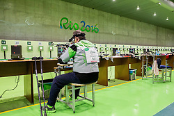 Francek Gorazd Tirsek - Nani of Slovenia during Qualification of R5 - Mixed 10m Air Rifle Prone SH2 on day 6 during the Rio 2016 Summer Paralympics Games on September 13, 2016 in Olympic Shooting Centre, Rio de Janeiro, Brazil. Photo by Vid Ponikvar / Sportida