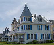 Ocean Grove, NJ USA -- May 12, 2017 -- A Victorian style house on a corner lot in Ocean Grove, NJ. Editorial Use Only