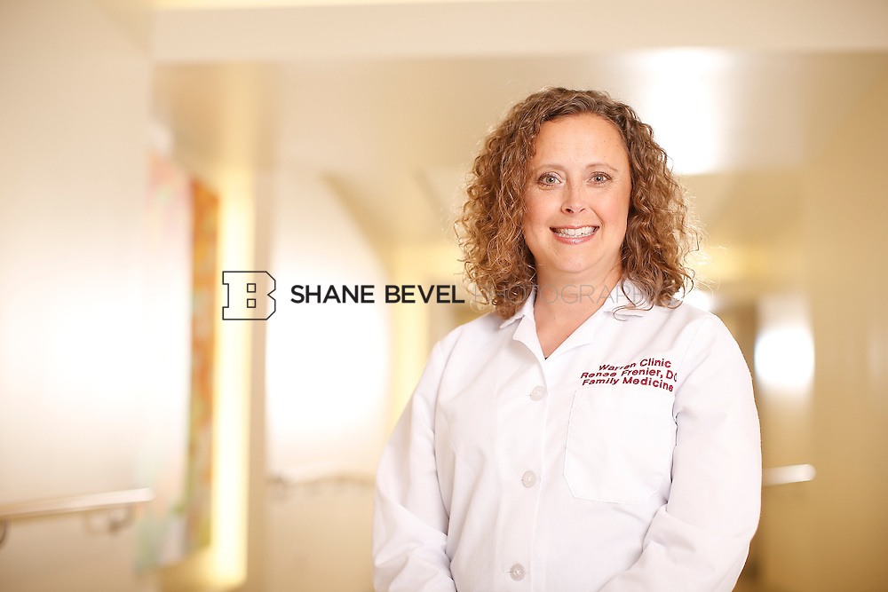 5/28/15 4:14:01 PM -- Dr. Renee Frenier of Saint Francis Health System poses for a portrait for the 2015 Advertising Campaign. <br /> <br /> Photo by Shane Bevel