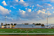 Garden Grove Football Field with Stadium Bleachers
