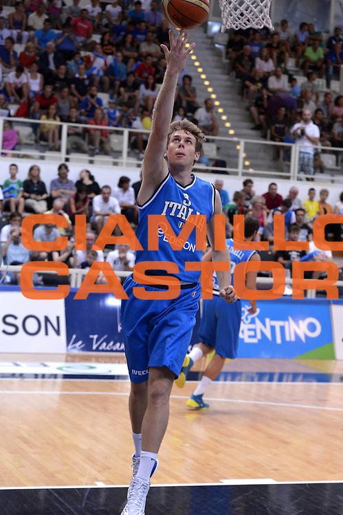 DESCRIZIONE : Trento Basket Cup 2013 Italia Polonia<br /> GIOCATORE : Nicol&ograve; Melli<br /> CATEGORIA : Tiro <br /> SQUADRA : Nazionale Italia Uomini Maschile<br /> EVENTO : Trento Basket Cup 2013 Italia Polonia<br /> GARA : Italia Polonia<br /> DATA : 09/08/2013<br /> SPORT : Pallacanestro<br /> AUTORE : Agenzia Ciamillo-Castoria/GiulioCiamillo<br /> Galleria : FIP Nazionali 2013<br /> Fotonotizia : Trento Basket Cup 2013 Italia Polonia<br /> Predefinita :