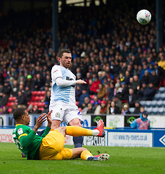 Lukas Nmecha of Preston North End (L) and Corry Evans of Blackburn Rovers in action - Mandatory by-line: Jack Phillips/JMP - 09/03/2019 - FOOTBALL - Ewood Park - Blackburn, England - Blackburn Rovers v Preston North End - English Football League Championship