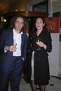 Jamie Byng and Charlotte Skene Catling. Everyman's Centenary Party. The Fine Rooms. Royal Academy. London. 15 February 2006. dddONE TIME USE ONLY - DO NOT ARCHIVE  © Copyright Photograph by Dafydd Jones 66 Stockwell Park Rd. London SW9 0DA Tel 020 7733 0108 www.dafjones.com