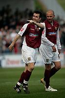 Photo: Marc Atkins.<br /> <br /> Northampton Town v Stockport County. Coca Cola League 2. 17/04/2006. Scott McGleish celebrates his 1st goal.