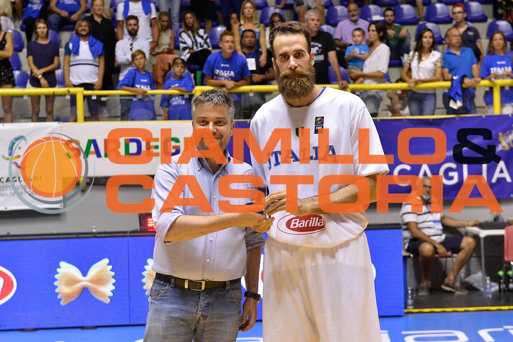 CAGLIARI 13 AGOSTO 2017<br /> Torneo di Cagliari Nazionale Italiana<br /> Italia - Turchia    Italy - Turkey<br /> NELLA FOTO Luigi DaTome<br /> FOTO CIAMILLO