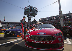 April 13, 2018 - Bristol, Tennessee, United States of America - April 13, 2018 - Bristol, Tennessee, USA: Kurt Busch (41) gets ready to qualify  for the Food City 500 at Bristol Motor Speedway in Bristol, Tennessee. (Credit Image: © Stephen A. Arce/ASP via ZUMA Wire)