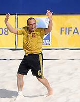 FIFA BEACH SOCCER WORLD CUP 2008 ARGENTINA - SPAIN  24.07.2008 NICO (ESP) celebrates.