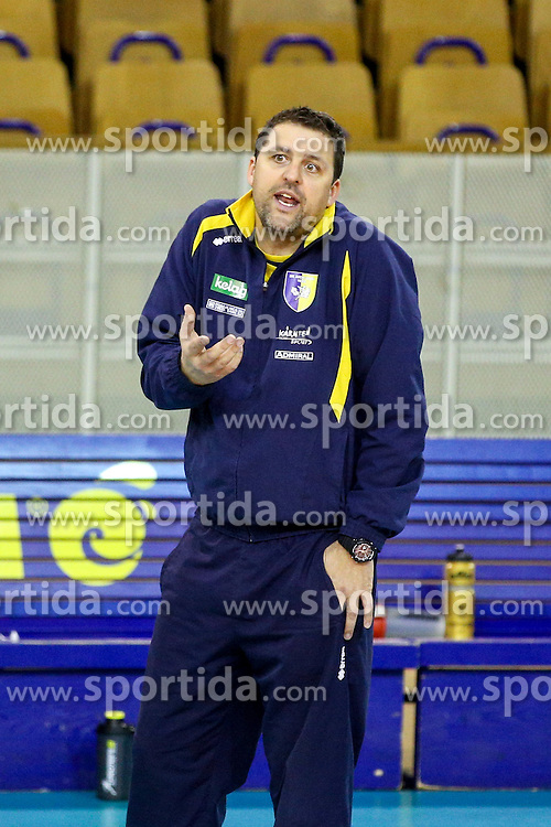 Matjaz Hafner, head coach of Aich Dob during volleyball match between ACH Volley Ljubljana and Posojilnica Aich - Dob in Semifinal of MEVZA Cup Men - Final Four, on March 11, 2016 in Hala Tivoli, Ljubljana, Slovenia. Photo by Morgan Kristan / Sportida
