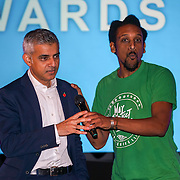 London, UK. 31th October, 2016. May Project Camden, KMT Freedom Teacher and Sadiq Khan The Mayor of London ceremony Team London Awards at City Hall, London,UK. Photo by See Li