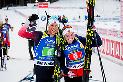 Thekla Brun-Lie (NOR) and Lars Helge Birkeland (NOR) during Single Mixed Relay at day 1 of IBU Biathlon World Cup 2018/19 Pokljuka, on December 2, 2018 in Rudno polje, Pokljuka, Pokljuka, Slovenia. Photo by Ziga Zupan / Sportida