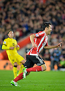 Southamptons Maya Yoshida scores the opening goal during the Capital One Cup match between Southampton and Aston Villa at the St Mary's Stadium, Southampton, England on 28 October 2015. Photo by Adam Rivers.