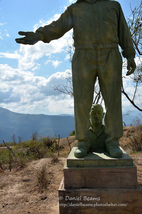 Statue in Moro Moro, Santa Cruz, Bolivia