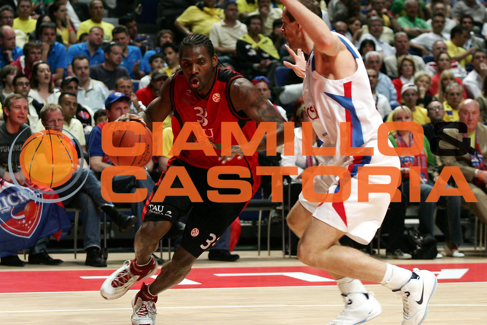 DESCRIZIONE : Madrid Eurolega 2007-08 Final Four Semifinale Tau Vitoria Cska Mosca <br />