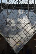 France. Paris, Caroussel du Louvre. Inverted Pyramid/ la pyramide inversee dans le Caroussel du Louvre