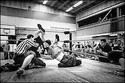 Pro-wrestling at the Lynfield YMCA, Auckland.